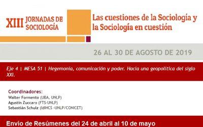 Actividades del CIEPE en las XIII Jornadas de Sociologia de la UBA